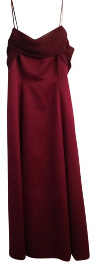 David's Bridal Maroon, Cranberry Dress