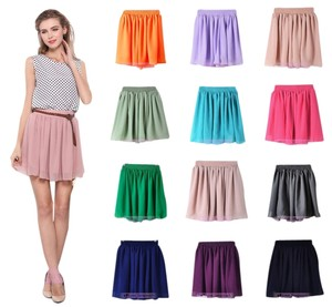 Lava Girl Women Pleated Skirt Matcha Green