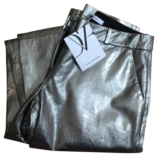 Item - Silver Metallic Leather Everly Pants Size 10 (M, 31)
