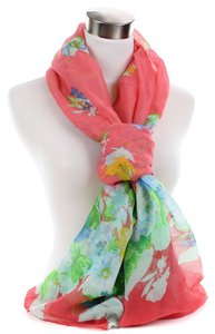 Very Moda Floral Flower Print Pattern Circle Light Scarf 09