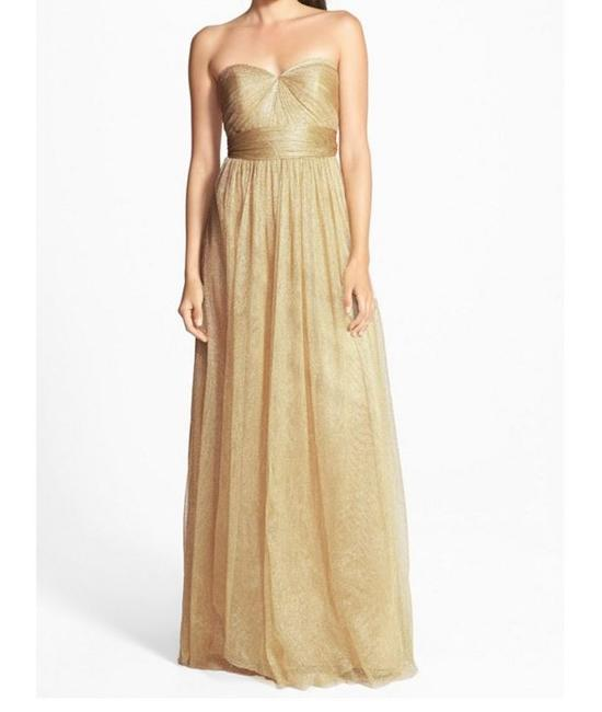 Item - Metallic Gold Tulle Annabelle (Style 1552) Formal Bridesmaid/Mob Dress Size 4 (S)