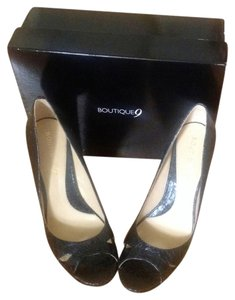 Boutique 9 Peep Toe Black Sandals