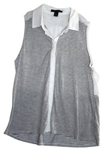 Forever 21 Top Gray and White