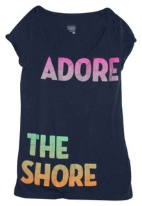Old Navy T Shirt Adore the Shore Navy Blue