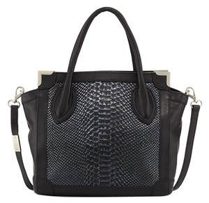 Foley + Corinna #leather #embossed #luxury #foley+corinna #minishopper #shopper #crossbody #perfectbag #blackanaconda #monogram #new Tote in Noir Snake - Black