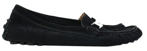Coach Loafer Leather New Black Flats