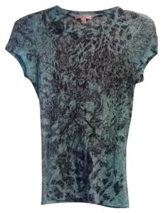 Romeo & Juliet Couture T Shirt Aqua & Gray