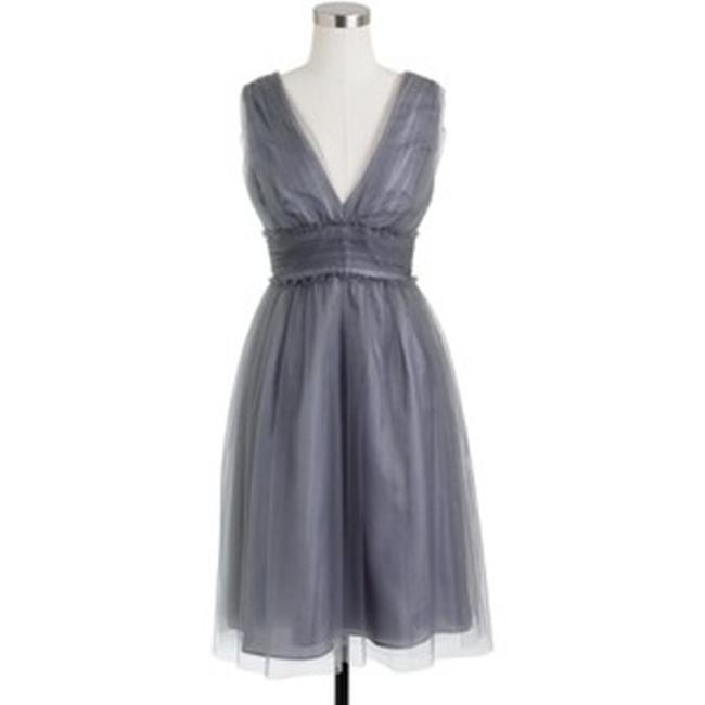 Item - Grey Tulle Lynette Formal Bridesmaid/Mob Dress Size 8 (M)