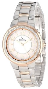 Bulova Rose Gold Diamond Watch
