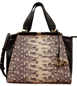 Diane von Furstenberg Satchel in Black & Natural