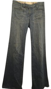 Paper Denim & Cloth Retro Wide- Soft Straight Trouser/Wide Leg Jeans-Light Wash