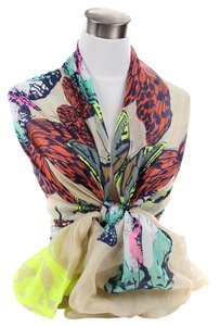 Very Moda Butterfly Animal Print Pattern Circle Light Scarf 35