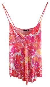 H&M Top Pink Tropical Print