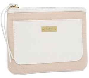 Chloé Chloe Cosmetic Pouch White/Beige