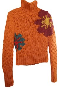 Lucky Brand Bright Chunky Knit Flowers Sweater