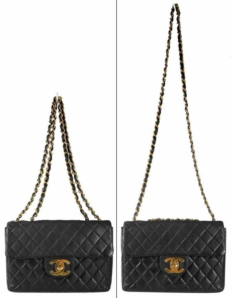 f0a2c4cd5d31 Chanel Vintage Black Quilted Lambskin Leather Classic Maxi Jumbo Xl Flap  Shoulder Bag Image 10. 1234567891011