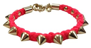 J.Crew NWOT JCrew Studded Gold and Bright Pink Bracelet