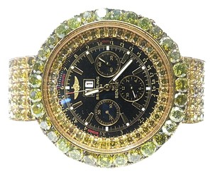 Breitling Bentley Watch With 78.00 Carats TW of Yellow Diamonds in 18 Karat & 14 Karat Yellow Gold