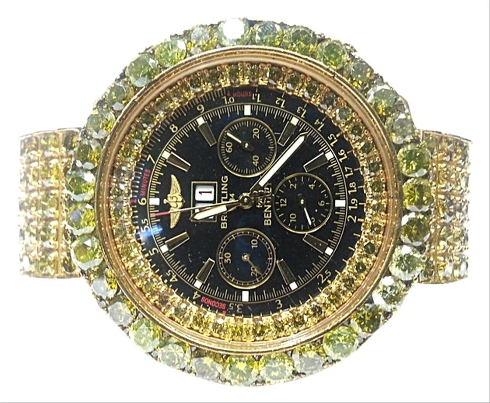 breitling bentley with 78.00 carats tw of yellow diamonds in 18