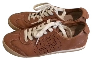 Tory Burch Sneakers Leather Leather Brown Athletic
