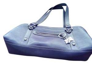 Nine West Leather Embellished Premium Satchel in PERIWINKLE