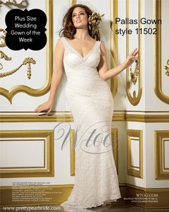 d720f7a8d5ae Wtoo Champagne Underlay Ivory Lace Pallas Style 11502 Vintage Wedding Dress  Size 14 (L)