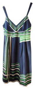 Guess short dress Blue, Green & White Striped Silk Summer on Tradesy