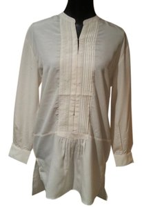 Larry Levine Tunic Cream New New With Tags Nwt Top Antique White