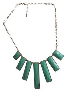 Forever 21 Forever21 Teal Green Statement Necklace