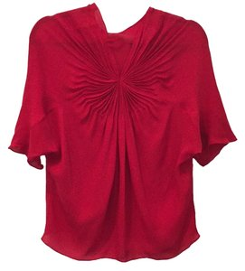 Diane von Furstenberg Dvf Dvf Going Out Office Shirt Office Office Silk Silk Top New red