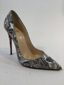 Christian Louboutin So Kate 120 Marble White Multicolored Pumps