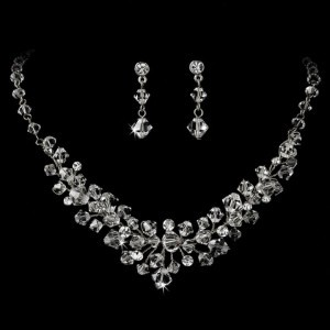 Elegance By Carbonneau Crystal Wedding Bridal Jewelry Set