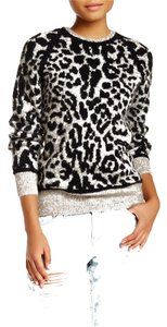 IRO Black Grey Leopard Print Sweater