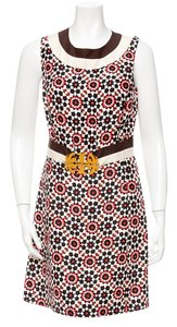 Tory Burch Melanie Silk Logo Medallion Dress