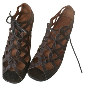 Gentle Souls Gs07066eb Coffee New Lace-up Sandals