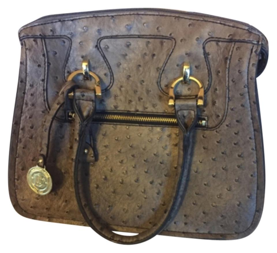 London Fog Handbag Leather Satchel Tradesy