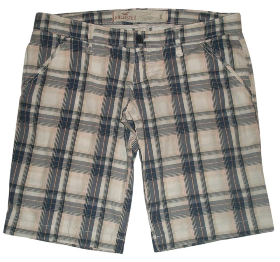 5f11a53e41 Hollister Navy Blue   White Plaid Shorts Size 4 (S