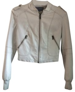 Foreign Exchange White Leather Jacket