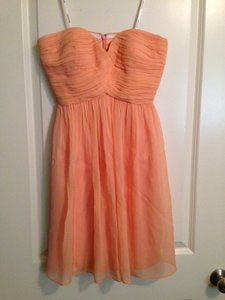 Donna Morgan Peach Fuzz Flat Silk Chiffon 57986sxephz Destination Bridesmaid/Mob Dress Size 4 (S)