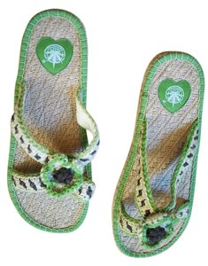 damoxing green Sandals
