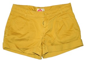 Forever 21 Cuffed Shorts Mustard