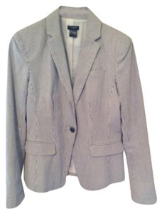 Ann Taylor Blue grey white Blazer