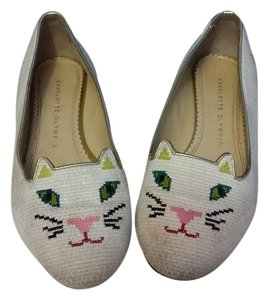 Charlotte Olympia Size 37 Color Made In Italy White Flats