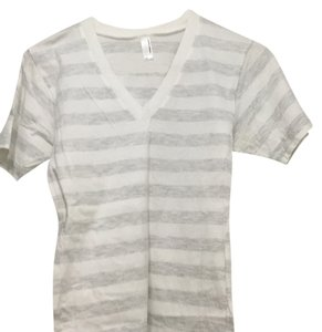 American Apparel T Shirt Heather grey/white stripes