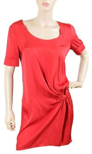Love Moschino short dress Red Silk Summer Evening on Tradesy