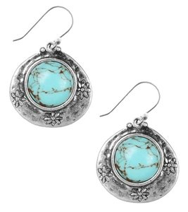 Lucky Brand Lucky Brand Antique Silver Tone Turquoise Drop Earrings NWT $22
