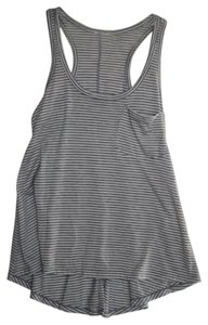 Nordstrom Top Gray and White