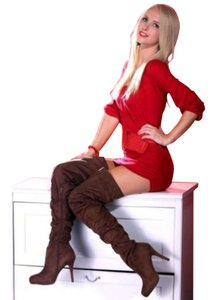 thigh high Over Knee Fashion brown Boots