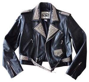 Second Skin Leather Studded Leather Jacket