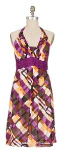 Anthropologie short dress MULTI-COLOR Printed Halter Geo Geometric on Tradesy